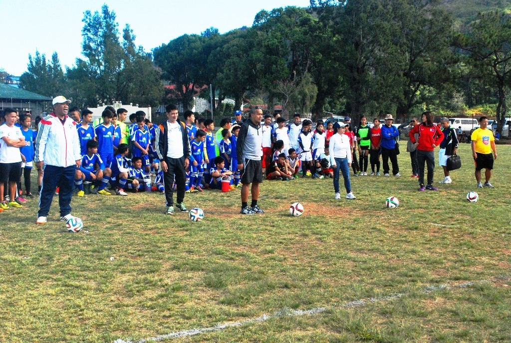 PFF Coaches conducting tryouts for U14 Regional Festival of Football