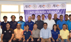 AFC Fitness Level 1A participants with AFC Instructor is Mr.Fung Wing Sing, Oliver seated 4th from the left beside PFF General Secretary Edwin Gastanes, seated 4th from the right.