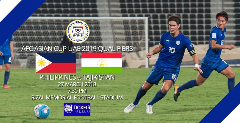 PFF Advisory  Philippines vs Tajikistan Ticket Details - The ... d4a1ec277