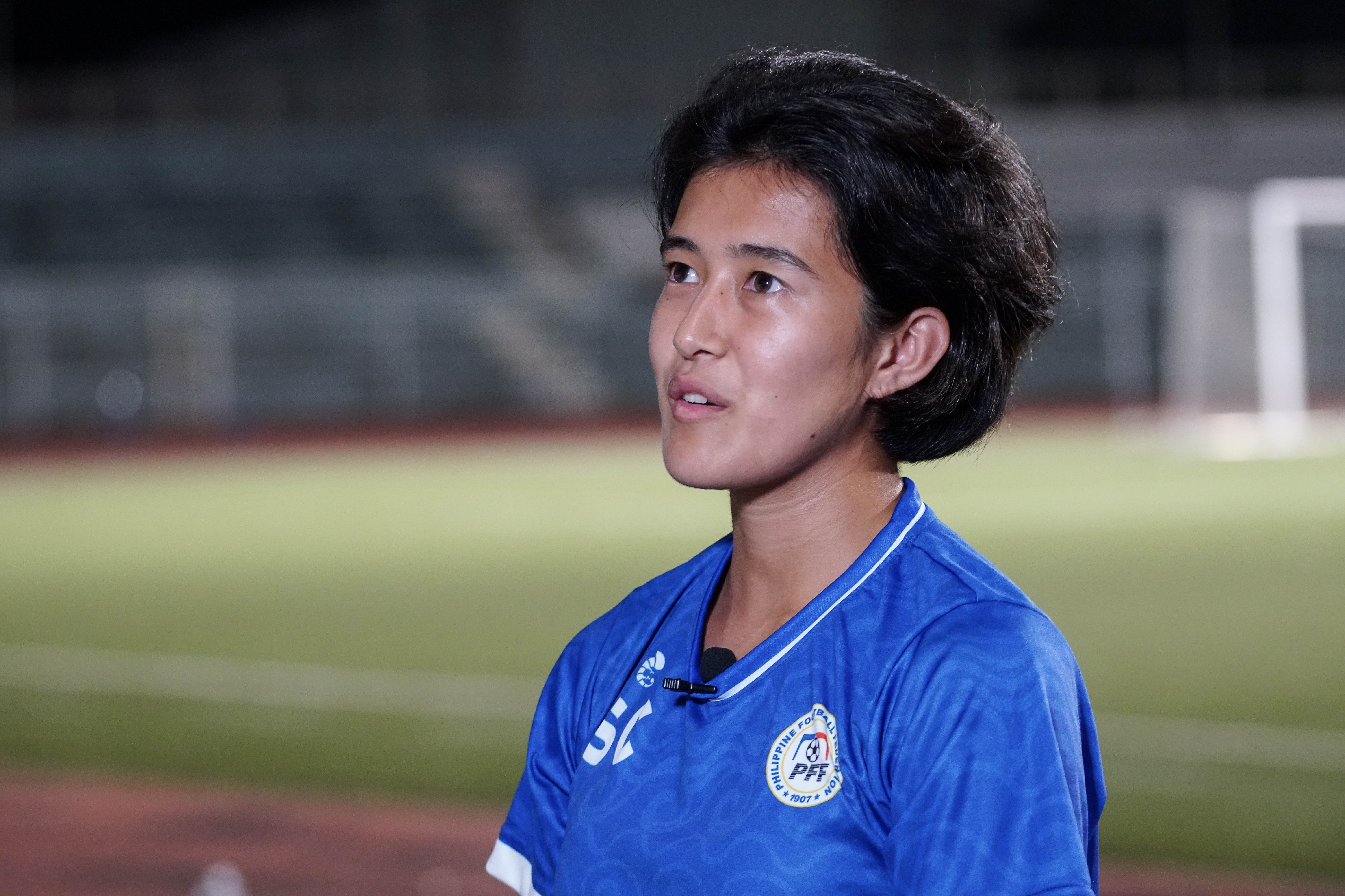 2850456ab65 The midfielder was a revelation in the Women's Asian Cup qualifiers having  scored the equalizing goal that sent the Philippines through to the final  round ...